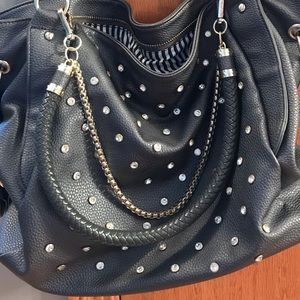 Grey and Gold Bling purse